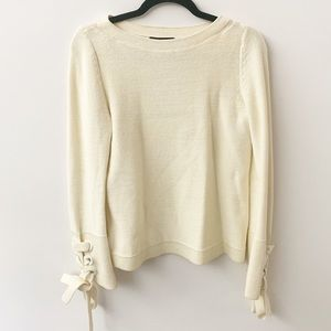 Loft Sweaters | Beige Cream Long Sleeve Sz S